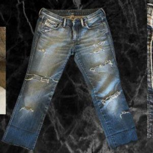 diesel low rise ripped jeans 29